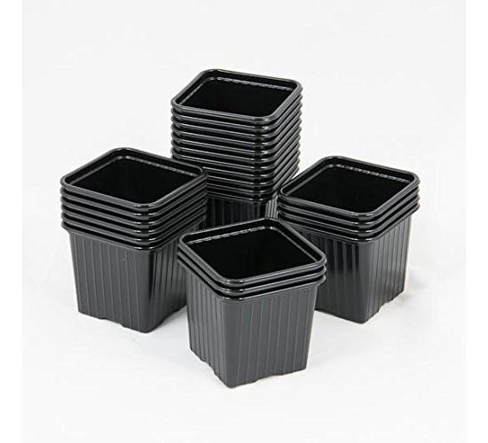 10 Godets en plastique noir 7*7*6