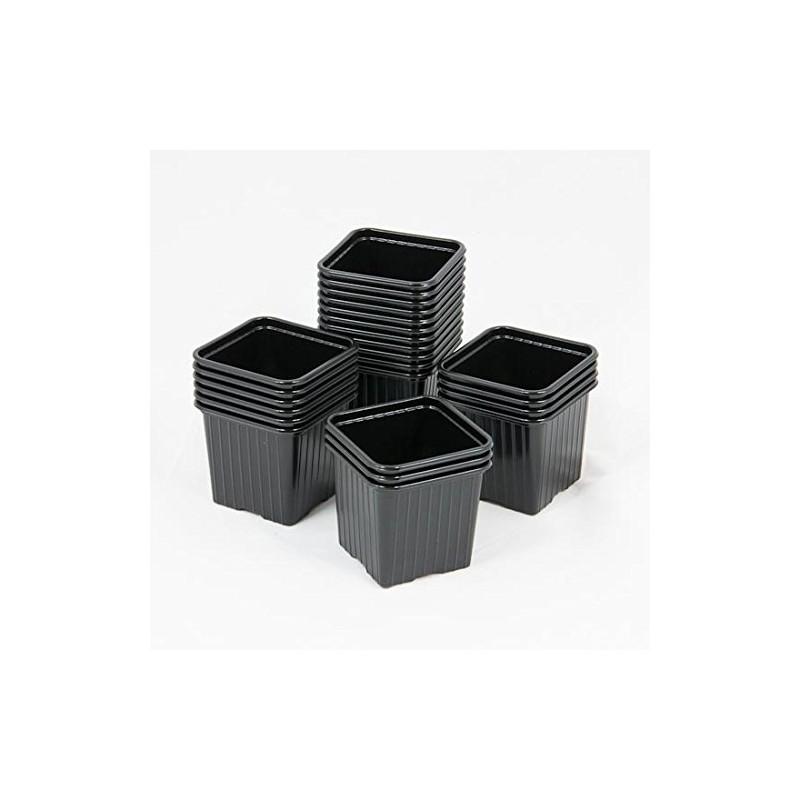 10 godets en plastique noir 7 7 6. Black Bedroom Furniture Sets. Home Design Ideas
