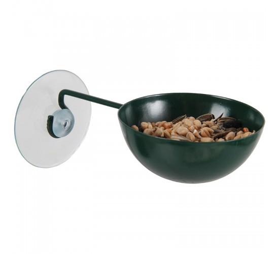 Coupe mangeoire à ventouse pour oiseaux.