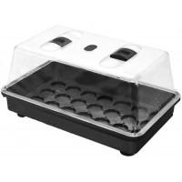 Mini-serre rigide 38x24x19 avec aérateurs