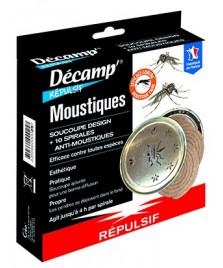 Spirales anti-moustiques avec soucoupe  à cendres design