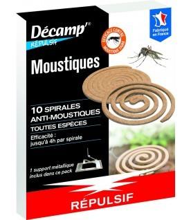 10 spirales anti-moustiques