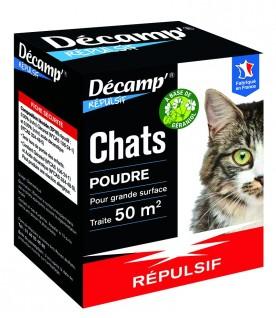 Poudre répulsive spéciale chat