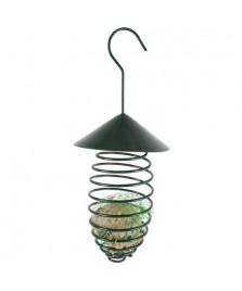 Spirale pour boule de graisse, vert foncé, avec toit