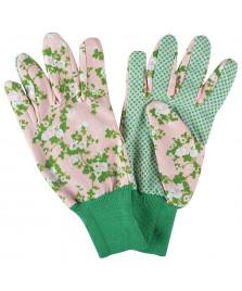Gants de jardin motifs roses