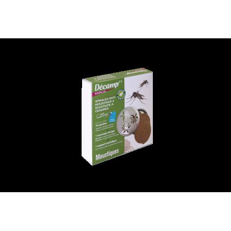 Spirales anti-moustiques avec soucoupe à cendres