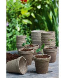 18 pots biodégradable 8 cm