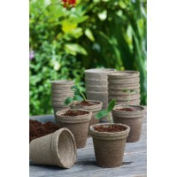 48 pots biodégradable 8 cm