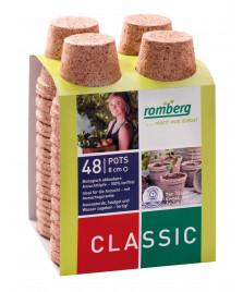 48 pots biodégradable 8 cm