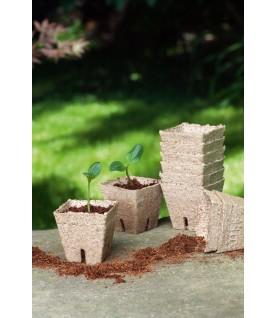 22 pots biodégradable 6 cm carré