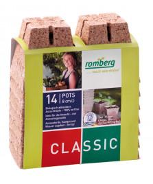 14 pots biodégradables 8 cm carrés