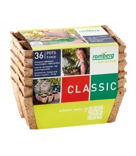 36 pots biodégradables 5 cm carrés