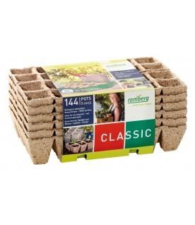 144 pots biodégradables 5 cm carré