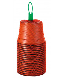 18 pots en plastique  9 cm rond