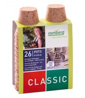 26 pots biodégradables 6cm rond