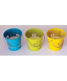 3 Bougies Anti-moustiques seau en métal