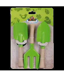 Set de jardinage enfants 3pc vert