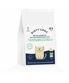 Croquettes BIO chat stérilisé sans céréales et sans gluten 2kg