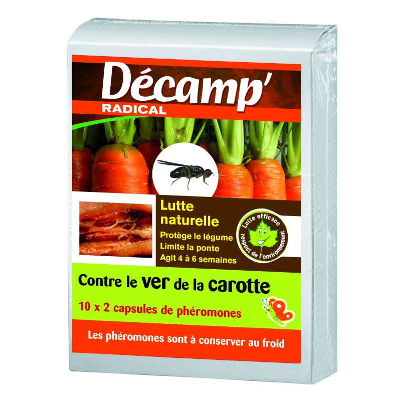Ph romone contre le ver de la carotte for Traitement contre les vers