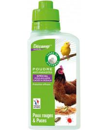Poudre anti-parasites spécial poulailler cages a oiseaux 300g