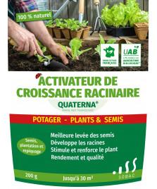 Activateur de croissance racinaire potager, plants et semis QUATERNA