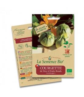 Graines de Courgette de Nice à fruit ronds  BIO