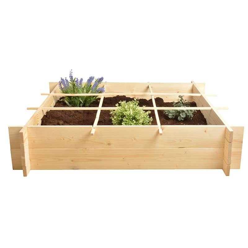 potager un m tre carr en bois. Black Bedroom Furniture Sets. Home Design Ideas