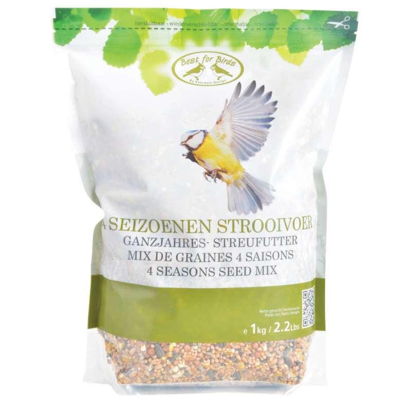 Mix de graines 4 saisons pour oiseaux 1kg - Graines de tournesol pour oiseaux ...