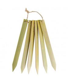 Six marquoirs de plantation bambou longs